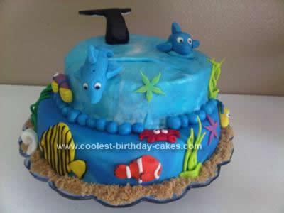 Homemade Underwater Birthday Cake Design