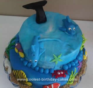Homemade Underwater Birthday Cake Design