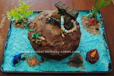 Homemade Underwater Ocean Cake