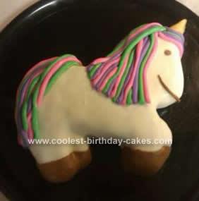 Homemade Unicorn Cake