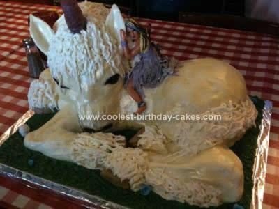 Homemade Unicorn Fairy Cake Design