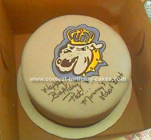 Homemade University Emblem Cake