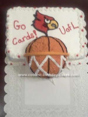 Homemade  University of Louisville Cardinals Basketball Cake
