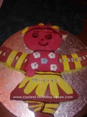 Homemade Upsy Daisy Birthday Cake
