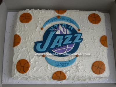 Outstanding Coolest Utah Jazz Basketball Cake Funny Birthday Cards Online Overcheapnameinfo
