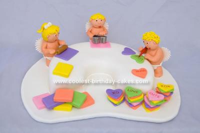 Homemade Valentine Assembly Line Cake