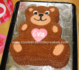 Homemade Valentine Bear Cake