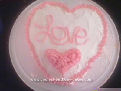 Homemade Valentine Cake Design