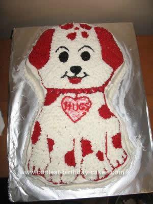 Homemade Valentine Puppy Cake Design