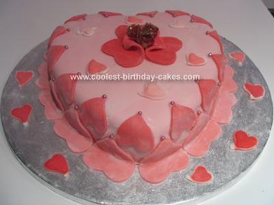 Homemade Vaelntines Cake