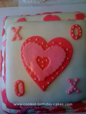 Homemade Valentines Cake