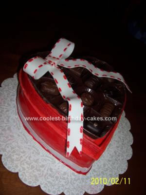Homemade Valentines Chocolate Box Cake