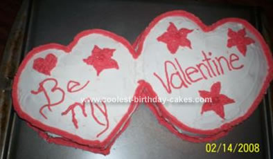 Homemade Valentines Day Cake