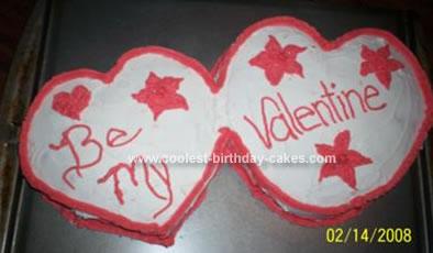 Homemade Valentines Day Cake
