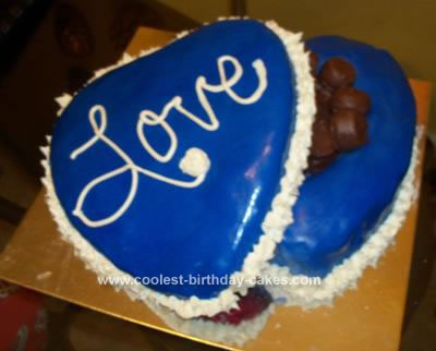 Homemade Valentine's Day Cake