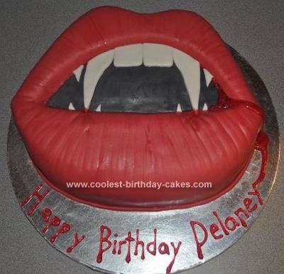 Homemade Vampire Birthday Cake