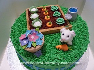 Fine Awesome Homemade Vegetable Garden Cake Funny Birthday Cards Online Elaedamsfinfo