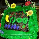 Homemade Vegetable Garden Cake