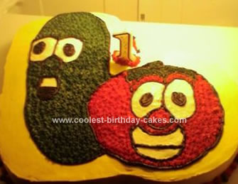 Homemade Veggie Tales Birthday Cake