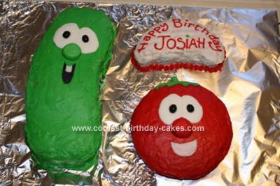 Enjoyable Coolest Veggie Tales Birthday Cake Personalised Birthday Cards Veneteletsinfo