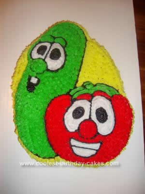 Pleasing Coolest Veggie Tales Birthday Cake Funny Birthday Cards Online Elaedamsfinfo