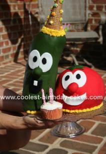 Veggie Tales Cake - Larry & Bob