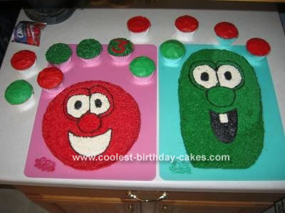 Veggie Tales Cake (Bob & Larry)