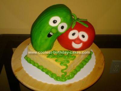 Homemade Veggie Tales Cake