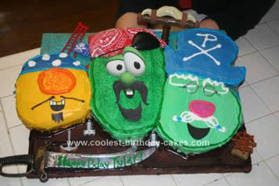 Homemade Veggie Tales Pirates Cake