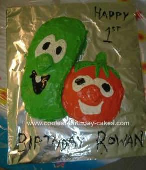 Homemade Veggietales Birthday Cake