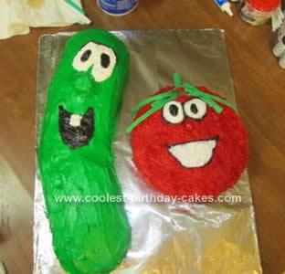 Homemade Vegie Tales Cake