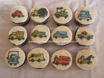Homemade Vehicle Cupcakes