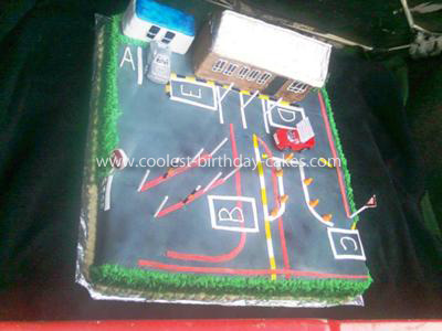Homemade Vehicle Testing Ground Cake