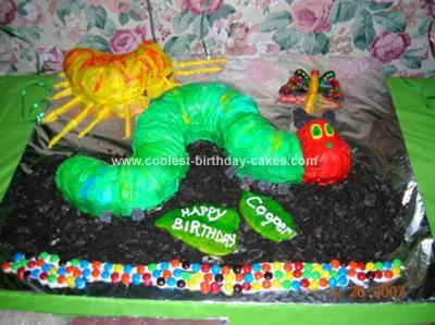 Homemade Very Hungry Caterpillar Cake