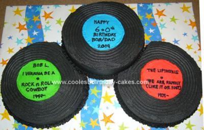 Homemade Vinyl Records Cake