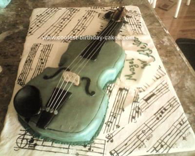 Homemade Violin Cake