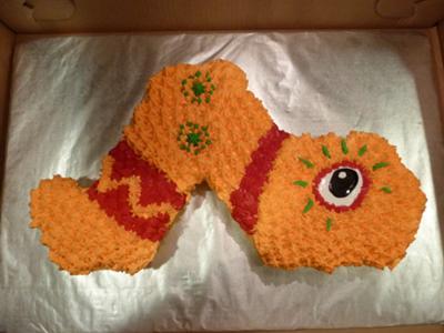 Homemade Viva Pinata Whirlm Cupcake Cake