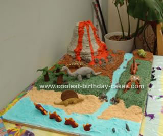 Homemade Volcano Birthday Cake
