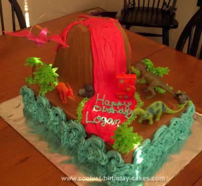 Homemade Volcano Cake