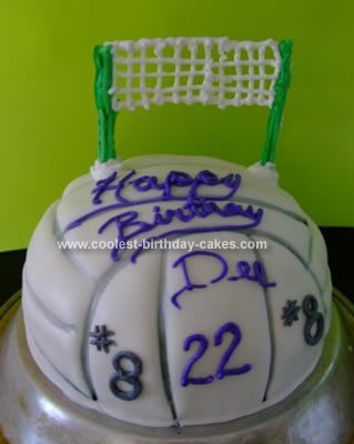 Homemade Volleyball Birthday Cake