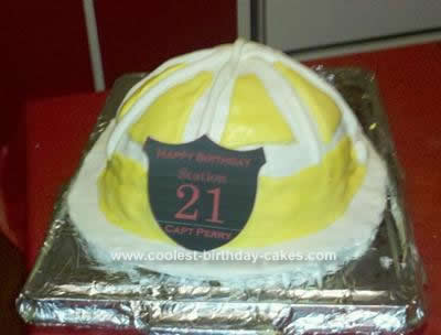 Homemade Volunteer Firefighter Birthday Cake
