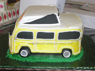 Homemade VW Bus Cake