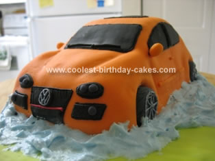 Homemade VW Car Cake