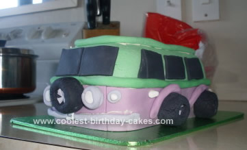 Homemade VW Van Cake