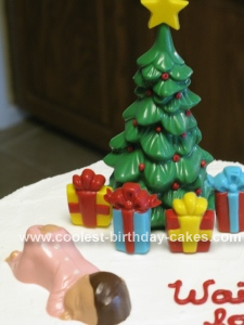 Homemade Waiting for Santa Christmas Cake