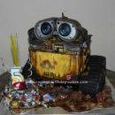 Homemade Wall E 3D Birthday Cake Design