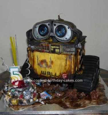 Astonishing Coolest Wall E 3D Birthday Cake Design Funny Birthday Cards Online Alyptdamsfinfo