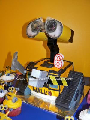 Homemade  Wall E 6th Birthday Cake