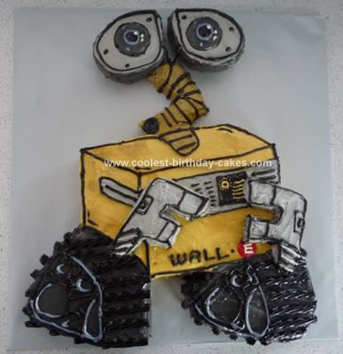 Homemade Wall E Birthday Cake