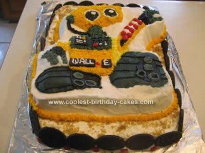 Homemade WALL E Birthday Cake